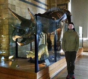 Keuvin au Natural History Museum de Londres