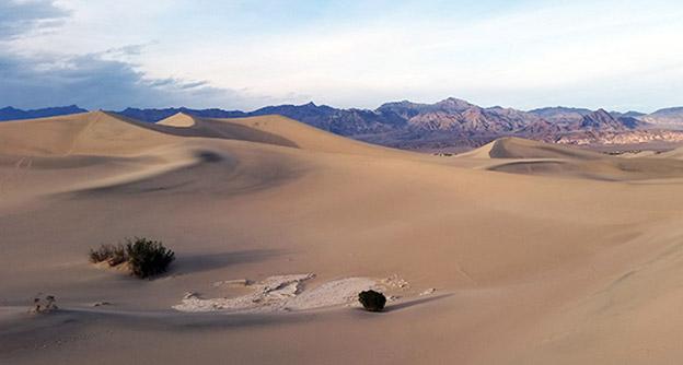 Les dunes de la Vallée de la Mort