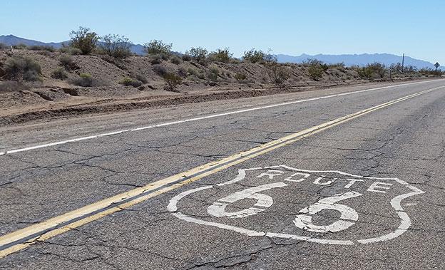La route 66 jusqu'à Los Angeles