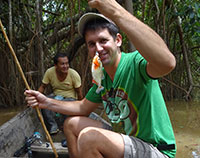Keuvin pêche son premier piranha