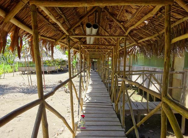 Village sur pilotis en Amazonie