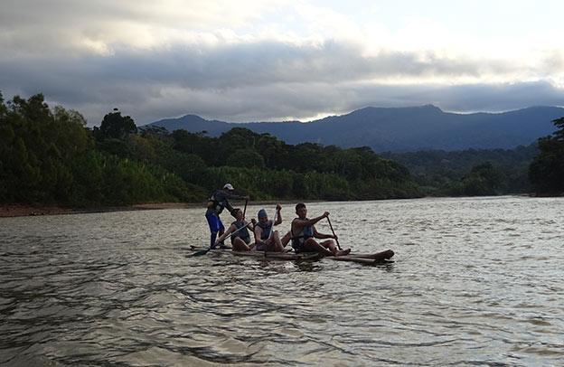 Rafting dans la Selva