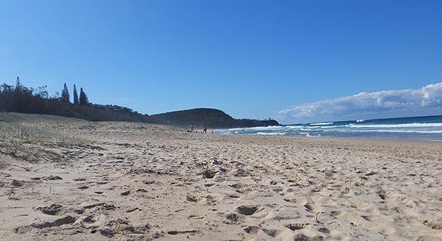 Un peu de repos sur la plage de Noosa Heads
