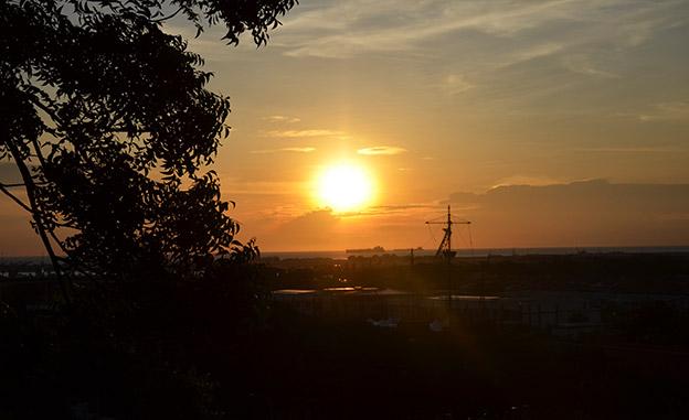 Coucher de soleil à Malacca