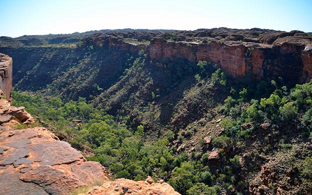 Kings Canyon entre Adélaïde et Darwin
