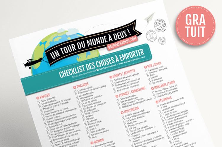 Les checklist de voyage à imprimer